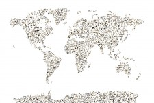 music-notes-world-map
